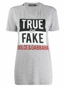 Dolce & Gabbana True or Fake T-shirt - Grey