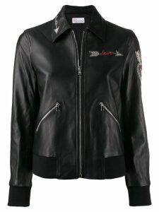 Red Valentino love embroidered jacket - Black