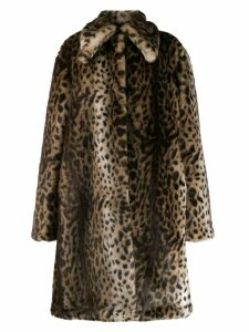 Rokh leopard faux-fur coat - Neutrals