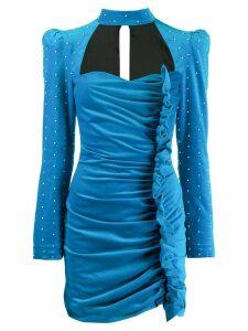 Giuseppe Di Morabito ruffled pearl dress - Blue