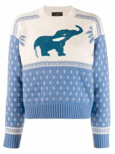 Alanui elephant knitted sweater - Blue