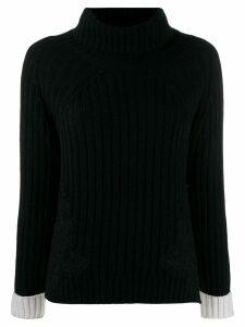 Ermanno Ermanno ribbed knit rollneck sweater - Black