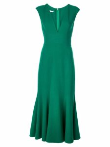 Oscar de la Renta fishtail midi dress - Green