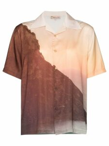 Esteban Cortazar sunset print short-sleeve shirt - Multicoloured
