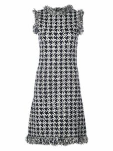 Oscar de la Renta houndstooth check mini dress - NAVY/WHITE