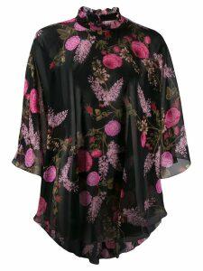 Giambattista Valli floral print silk top - Black