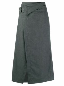3.1 Phillip Lim belted waist A-line skirt - Grey