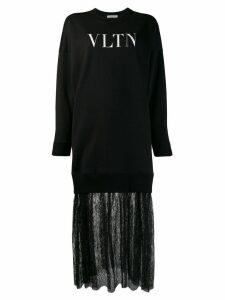 Valentino VLTN print sweatshirt dress - Black
