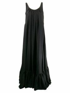 Brunello Cucinelli flared maxi dress - Black