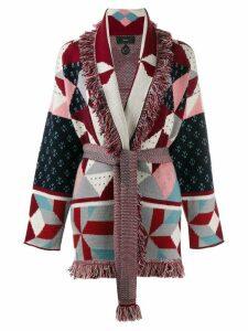 Alanui jacquard knit cardigan - Red