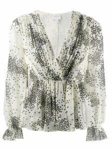 Giambattista Valli square print blouse - White