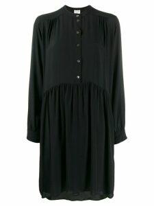 Semicouture ruched midi shirt dress - Black