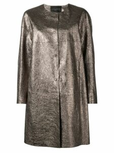 Fabiana Filippi metallic single-breasted coat - Gold