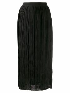 Semicouture high-waisted pleated skirt - Black