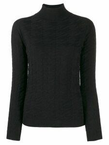 Blumarine turtleneck jumper - Black