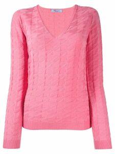 Blumarine textured jumper - Pink