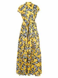 Carolina Herrera floral print silk dress - Yellow