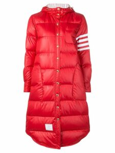 Thom Browne Four-Stripes Padded Overcoat - Red