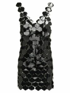 Paco Rabanne sequin-embellished mini dress - Black