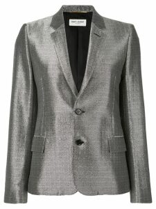 Saint Laurent metallic sheen blazer - Grey