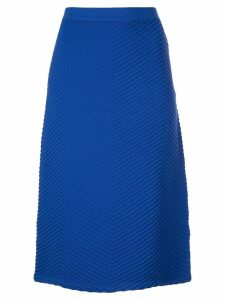 Victoria Victoria Beckham fitted knit skirt - Blue