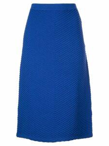Victoria Victoria Beckham fitted knit skirt - Blue