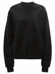 JW Anderson oversized cold shoulder sweatshirt - Black