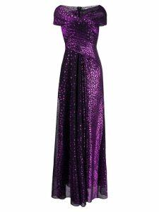 Talbot Runhof Tolinda evening gown - Purple
