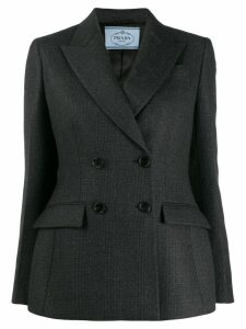 Prada Double-breasted check blazer - Black