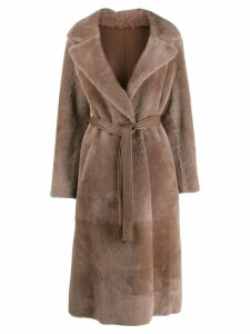 Blancha oversized faux fur coat - Neutrals