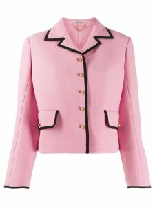 Miu Miu contrast piping jacket - Pink