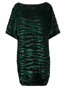 P.A.R.O.S.H. sequin zebra T-shirt dress - Green
