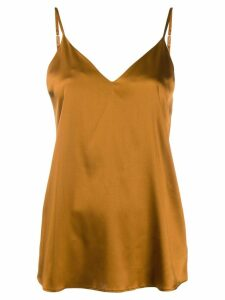 Luisa Cerano v-neck slip top - Brown