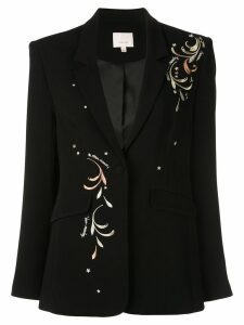 Cinq A Sept Estelle embroidered blazer - Black
