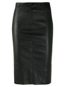 Drome fitted midi skirt - Black