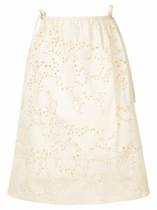 Jil Sander perforated details skirt - Neutrals