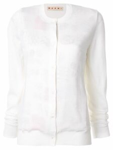 Marni printed reversible cardigan - White