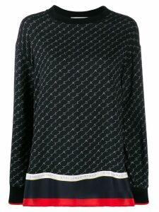 Stella McCartney logo print blouse - Black
