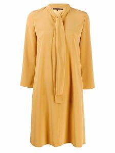 Luisa Cerano tied neck mini dress - Neutrals