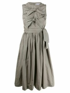 Molly Goddard knot detail dress - Grey