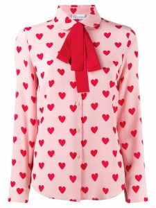 Red Valentino RED(V) heart print blouse - Pink