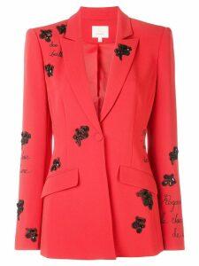 Cinq A Sept Estelle beaded blazer - Red