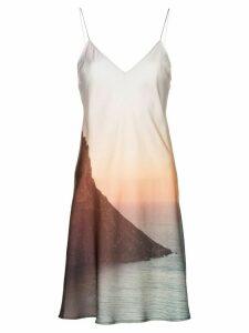 Esteban Cortazar sunset print slip dress - Multicoloured