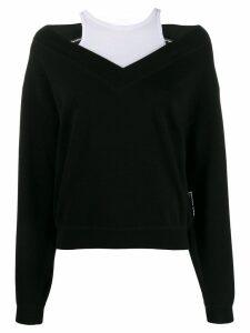 T By Alexander Wang wash + go bi-layer sweater - Black