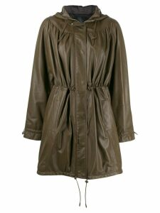 Drome textured hooded jacket - Brown
