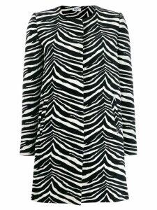 Liu Jo zebra print coat - Black