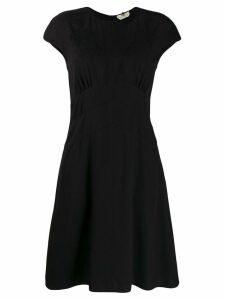Fendi short sleeve mini dress - Black