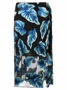Alice+Olivia Lumi wrap midi skirt - Black