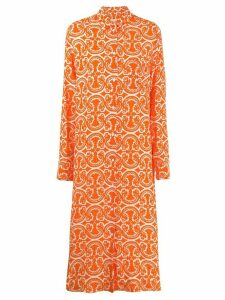 Jil Sander printed shirt dress - Orange