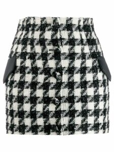 Giuseppe Di Morabito houndstooth tweed skirt - Black